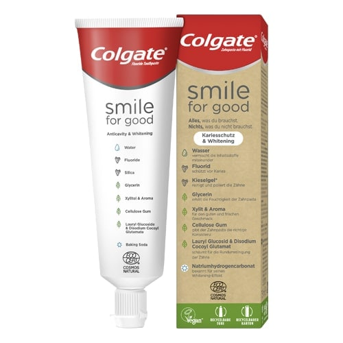 Colgate® Smile For Good Kariesschutz & Whitening Zahnpasta
